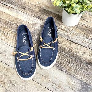 Sperry Lounge Away Blue Slip On Boat Shoe 6.5